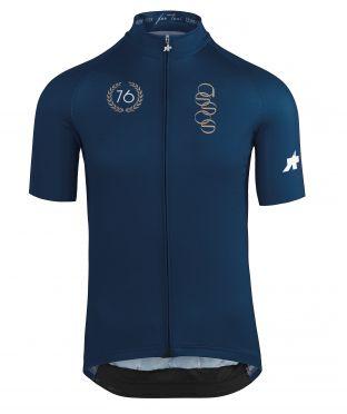 Assos ForToni short sleeve cycling jersey blue men