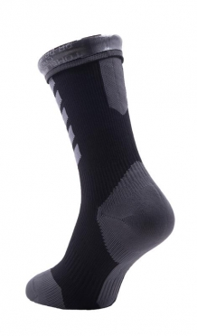 Sealskinz MTB mid mid hydrostop cycling socks black/grey
