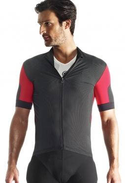 Assos SS.rallytrekkingJersey_evo7 cycling jersey red men + NS.skinFoilSummer_evo7