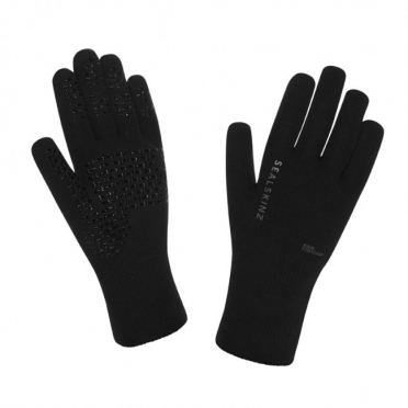SealSkinz Ultra grip cycling gloves black