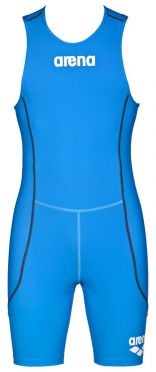 Arena ST rear zip sleeveless trisuit blue men