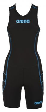 Arena ST rear zip sleeveless trisuit black women