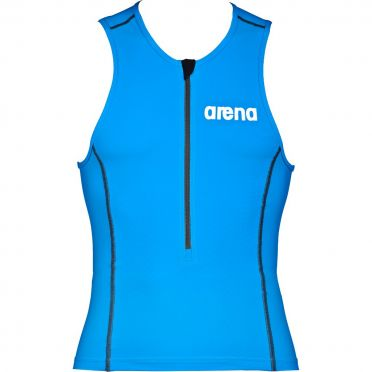 Arena ST sleeveless tri top blue men