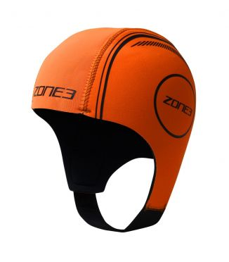Zone3 Neoprene swim cap orange