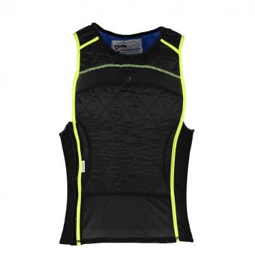 TechNiche KewlShirt evaporative cooling tank top black/yellow