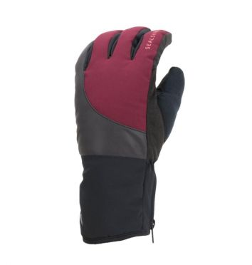 SealSkinz Extreme cold weather reflective cycling gloves black/red