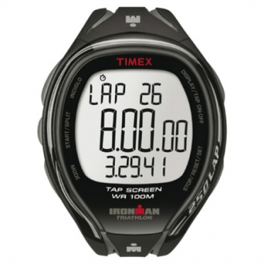 Timex Ironman sports watch Sleek 250 lap tap full size black T5K588