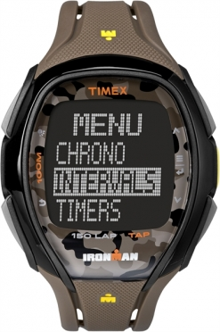 Timex Sleek 150 blue camo brown 46mm