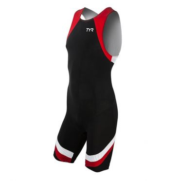 TYR Carbon backzip trisuit black/red men
