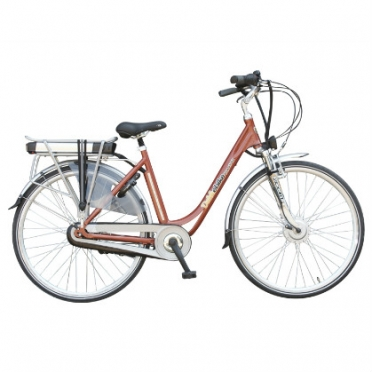 Dutchebike electric ladies bike touring orange-copper