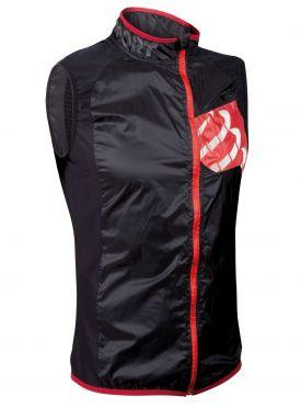 Compressport Trail hurricane vest running jacket black