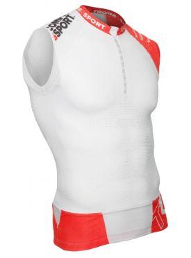 Compressport Trail running shirt v2 tank compression top white