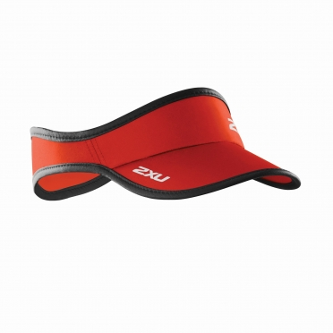 2XU Run Visor red