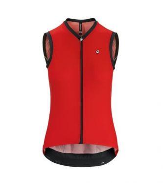 Assos UMA GT NS sleeveless cycling jersey red women