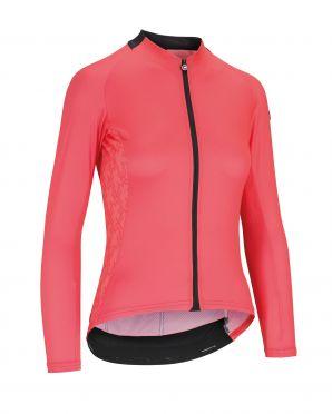 Assos UMA GT Summer LS cycling jersey pink women