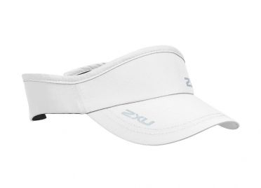 2XU Run Visor white
