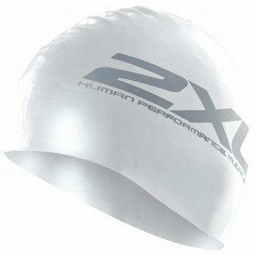 2XU Silicone swim cap white