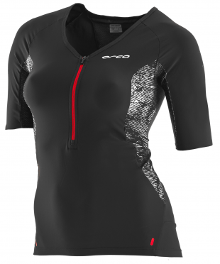 Orca 226 Perform tri jersey short sleeve black/red women
