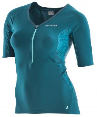 Orca 226 Perform tri jersey short sleeve blue/green women