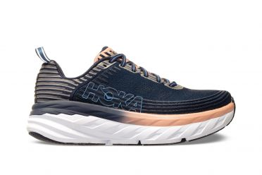Hoka One One Bondi 6 running shoes indigo/pink women