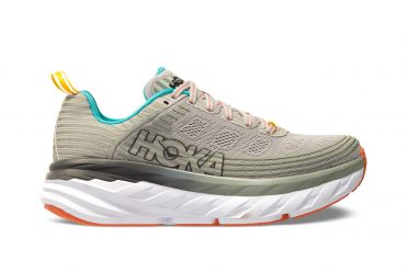 Hoka One One Bondi 6 wide running shoes grey women