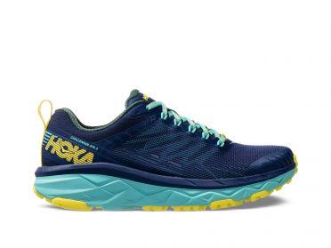 Hoka One One Challenger ATR 5 wide running shoes blue women