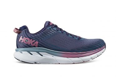 Hoka One One Clifton 5 running shoes purple/blue women