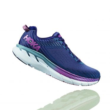 Hoka One One Clifton 5 running shoes purple women
