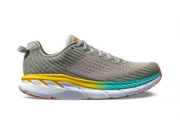 Hoka One One Clifton 5 running shoes grey women