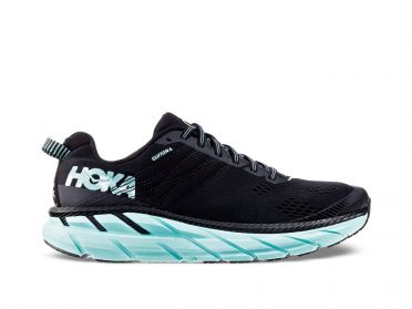 Hoka One One Clifton 6 running shoes black/blue women