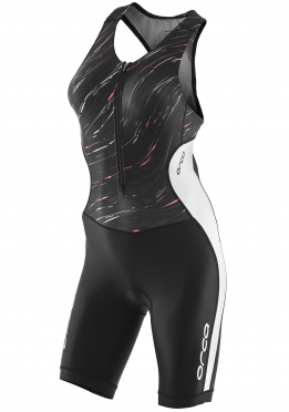 Orca Core race sleeveless trisuit black/white women