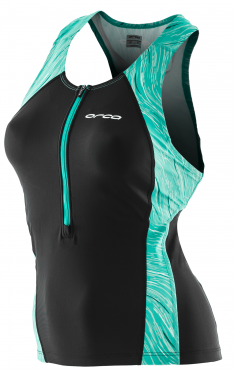 Orca Core Support singlet sleeveless tri top black/green women