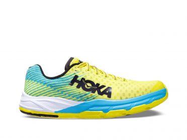Hoka One One Evo Carbon Rocket running shoes blue/yellow women