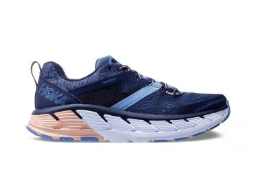 Hoka One One Gaviota 2 wide running shoes blue/pink women