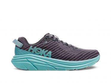 Hoka One One Rincon running shoes grey/blue women