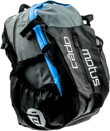Cádomotus Waterflow racing bag black/blue
