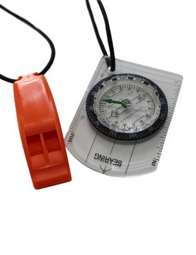 Zone3 Swimrun compass and whistle combo