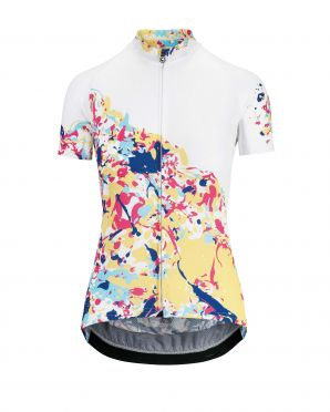 Assos Wild SS cycling jersey white/candy women