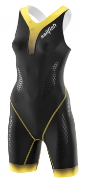 Sailfish Pro Team trisuit backzip black/yellow women