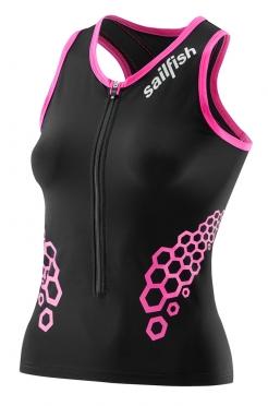 Sailfish Competition tritop black/pink women