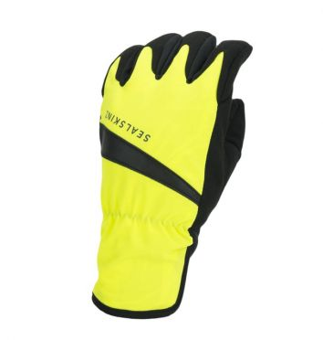 SealSkinz All weather cycling gloves neon yellow/black