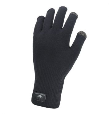 SealSkinz Ultra grip knitted cycling gloves black