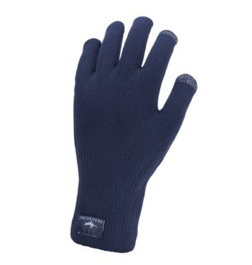 SealSkinz Ultra grip knitted cycling gloves blue
