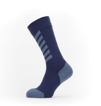 Sealskinz Cold weather mid cycling socks with Hydrostop Blue