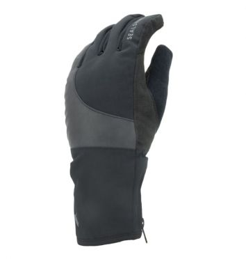SealSkinz Extreme cold weather reflective cycling gloves black