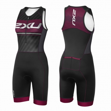 2XU Perform Pro trisuit black/purple women