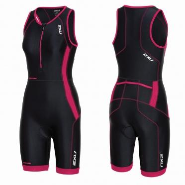 2XU Perform Front Zip trisuit black/pink women