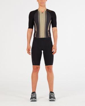2XU Project X short sleeve trisuit black/gold women