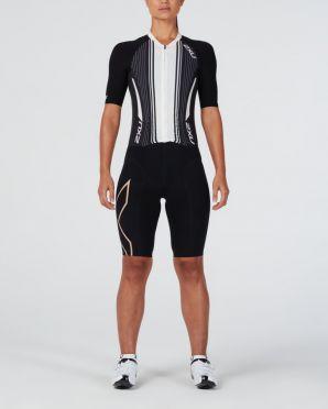2XU Project X short sleeve trisuit black/white women