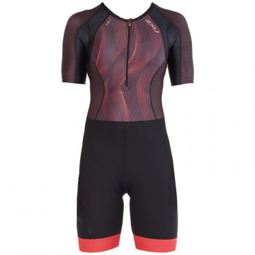 2XU Compression short sleeve trisuit black/purple
